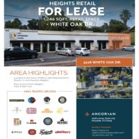 Space Available on White Oak Dr., Heights, Houston TX